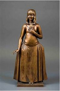 portrait statuette of miss marjorie spencer [lf 205] by gaston lachaise